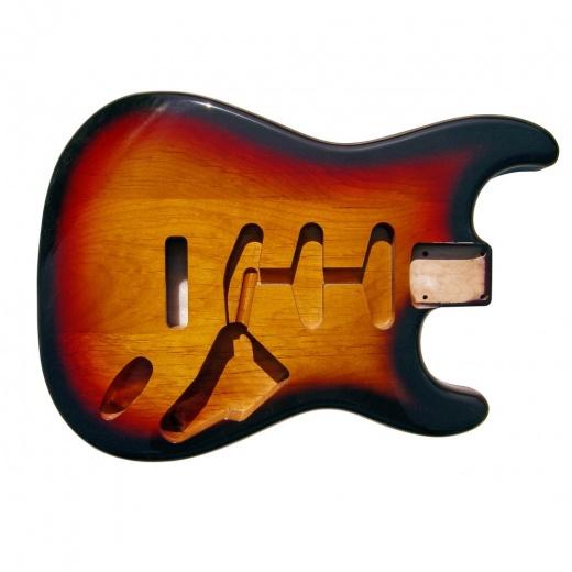 Strat Body Alder - 3 Tone Sunburst